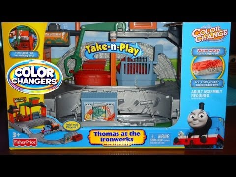 Thomas At the Ironworks Color Changers Playset Take n Play Collection Thomas & Friends Trains Cars