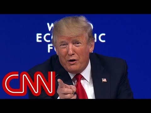 Crowd boos as Trump calls media 'fake' in Davos