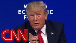Crowd boos as Trump calls media 'fake' in Davos