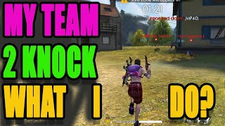 my team 2 knock what I do|| Rank match tips and tricks|| Booyah tricks|| Run Gaming
