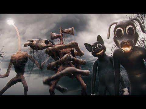 ALL Creatures ON CAMERA   Siren Head, Long Horse, Light Head, Cartoon Cat & Cartoon Dog