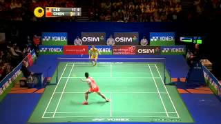 [Highlights] 2013 All England MS F Lee Chong Wei vs Chen Long