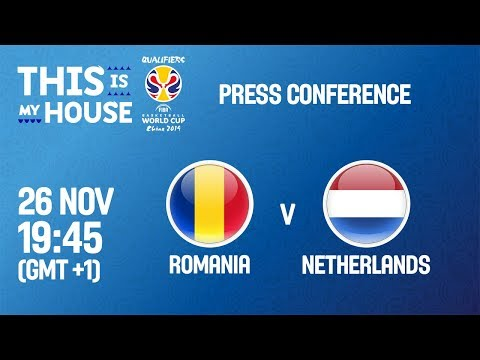 Romania v Netherlands - Press Conf - FIBA Basketball World Cup 2019 - European Qualifiers