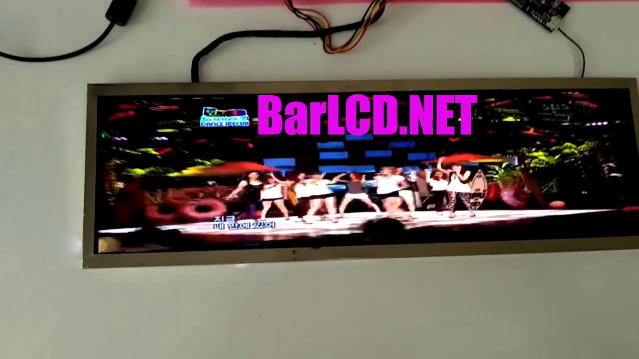 cut lcd stretched monitor display bar lcd