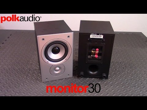Polk Audio Monitor 30 bookshelf speaker review and demo - budget HiFi