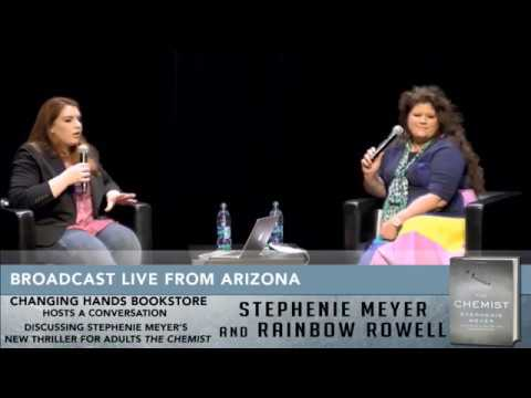 Stephanie Meyer Talks #THECHEMIST with Rainbow Rowell
