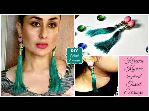Kareena Kapoor Inspired Tassel Earrings | DIY Tassel Earrings | How to make Earrings