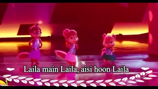 Laila Main Laila Video animation cartoon dance Chipmunks with Lyrics   Raees