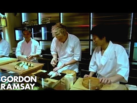 Gordon Ramsay Struggles to Make Sushi - Gordon Ramsay