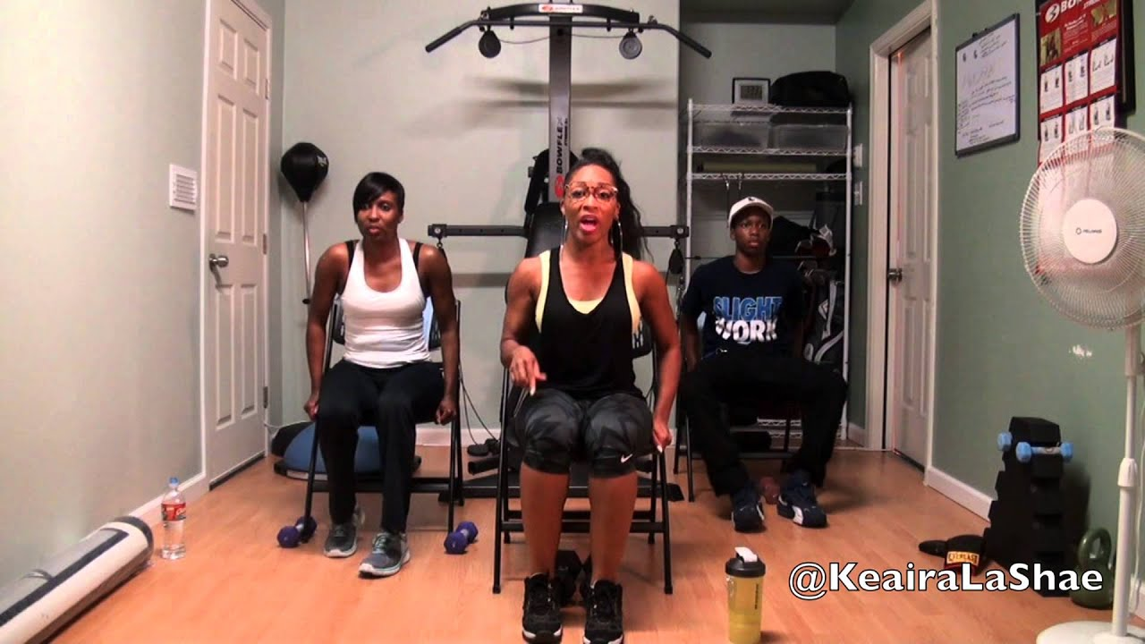 Download Full body chair workout with @KeairaLaShae
