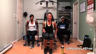 Full body chair workout with @KeairaLaShae