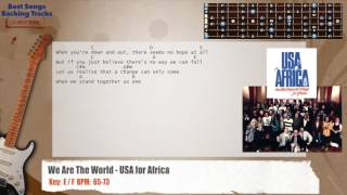 We Are The World USA for Africa Guitar Backing Track with chords and lyrics.mp3