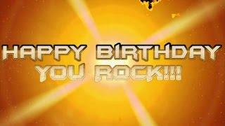 happy birthday rock guitar version