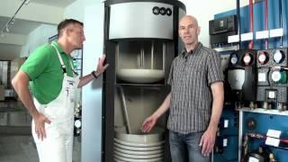 Integration eines Kaminofen und einer Solaranlage in eine Zentralheizung.