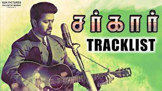 SARKAR Official Tracklist Revealed ! Thalapathy Vijay, Keerthy Suresh | AR Rahman | AR Murugadoss