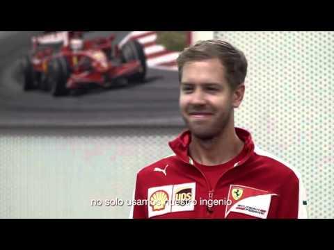 Sebastian Vettel in Santander's Driving Innovation Contest Spot
