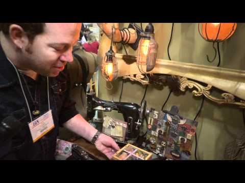 CHA 2011 - Tim Holtz Shows Amazing Laura Denison Projects