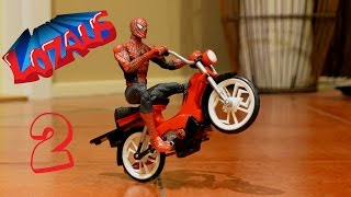 Repeat youtube video SPIDERMAN Stop Motion Action Video Part 2