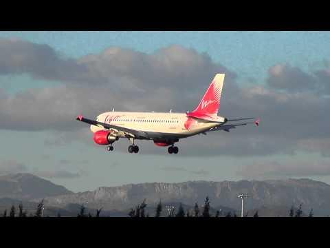 (RARE VISIT) Airbus A319-111 VIM Airlines VQ-BTK landing Malaga/LEMG