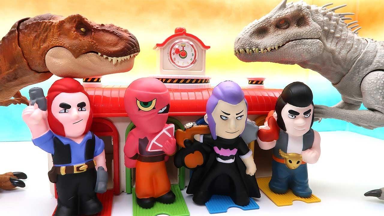 Dinosaur Battle And Get Mega Box! Jurassic World T-Rex, Triceratops, Pachycephalosaurus 쥬라기월드 공룡 배틀