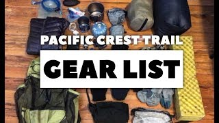 Pacific Crest Trail Gear List