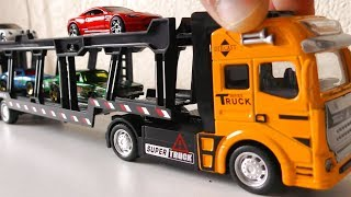 KIDS TOY TRUCK SHIPPING SMALL CARS TO ANOTHER PLACE