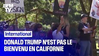 Des militants invectivent Donald Trump, en visite en Californie pendant deux jours