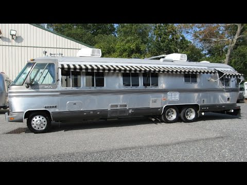 Walk Through 1987 Airstream Classic 345 Vintage Motorhome Bus GMC NASA Astrovan