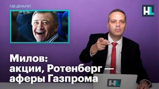Милов: акции, Ротенберг — аферы Газпрома