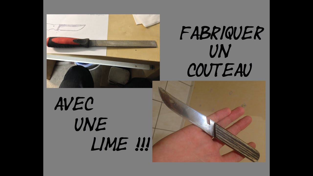 Tuto faire un couteau dans une lime make a file knife - Comment faire un diapo avec open office ...