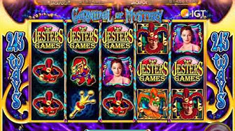 "CARNIVAL OF MYSTERY Video Slot Casino Game with a ""BIG WIN"" JESTERS GAMES BONUS"