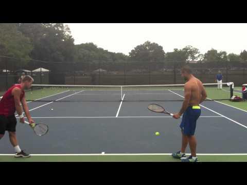 Fernando Verdasco serve practice (2011 Legg Mason)