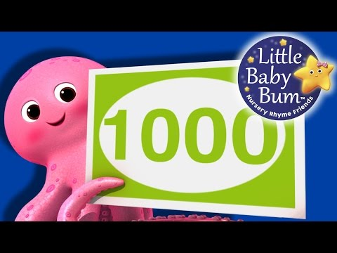 Numbers Song  100 to 1000  Big Numbers!  Nursery Rhymes  Original Song  LittleBaBum!