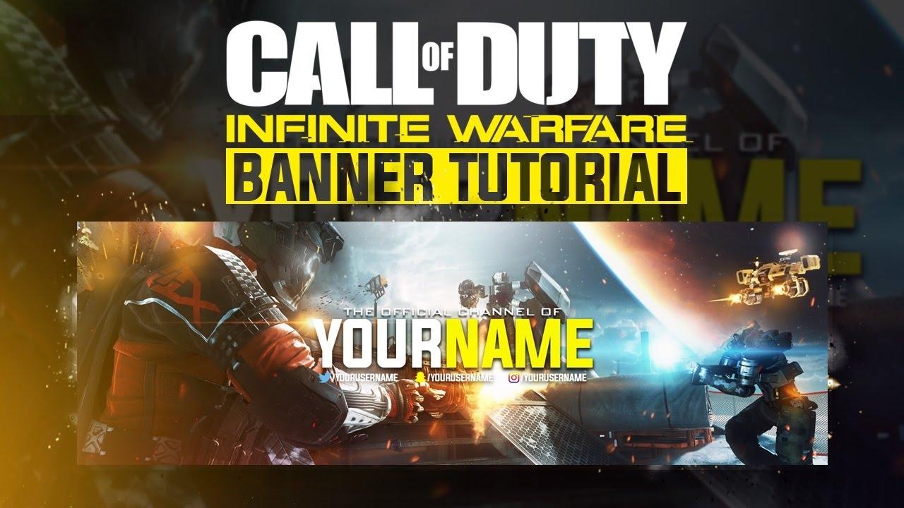 Photoshop Tutorial: Call Of Duty: Infinite Warfare Banner