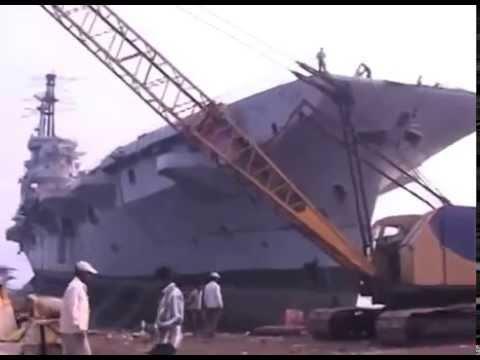 Ins Vikrant Aircraft carrier broken up at ship yard scrap factory in mumabi