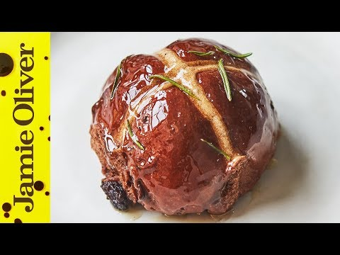 Chocolate Hot Cross Buns | Jamie Oliver