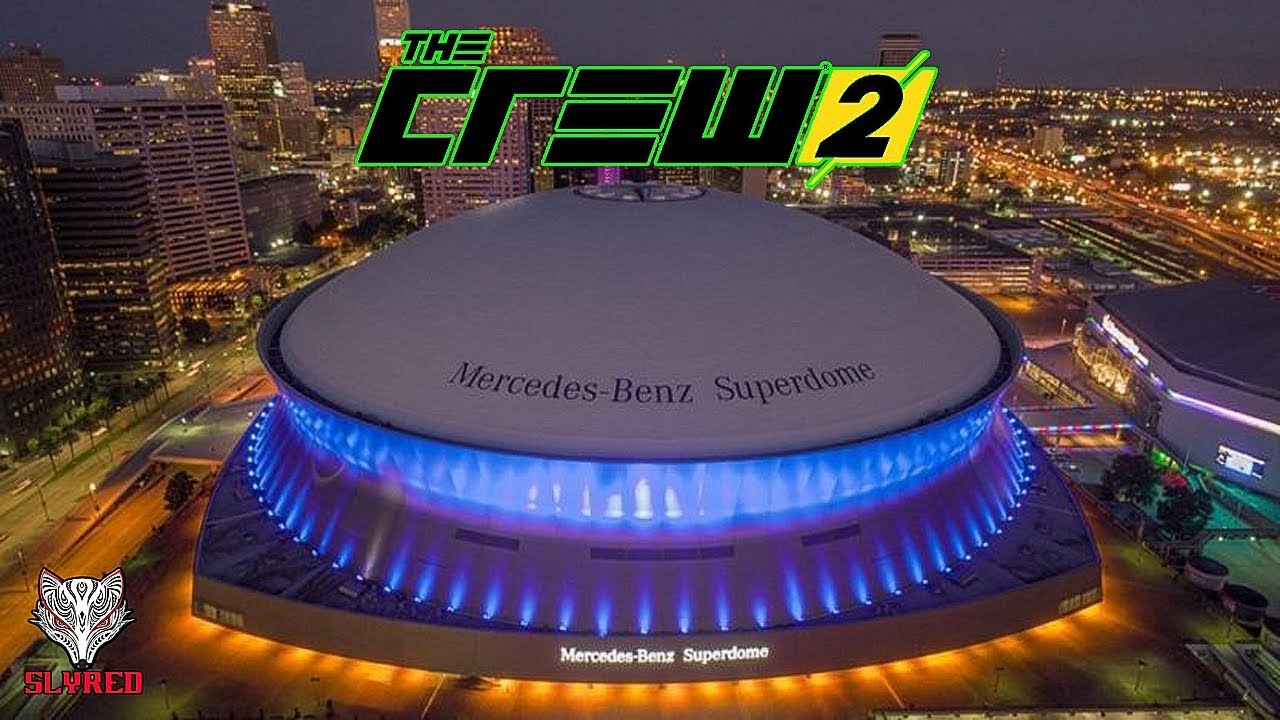 THE CREW 2 New Orleans Mercedes Benz Superdome Wallbreach (PS4)