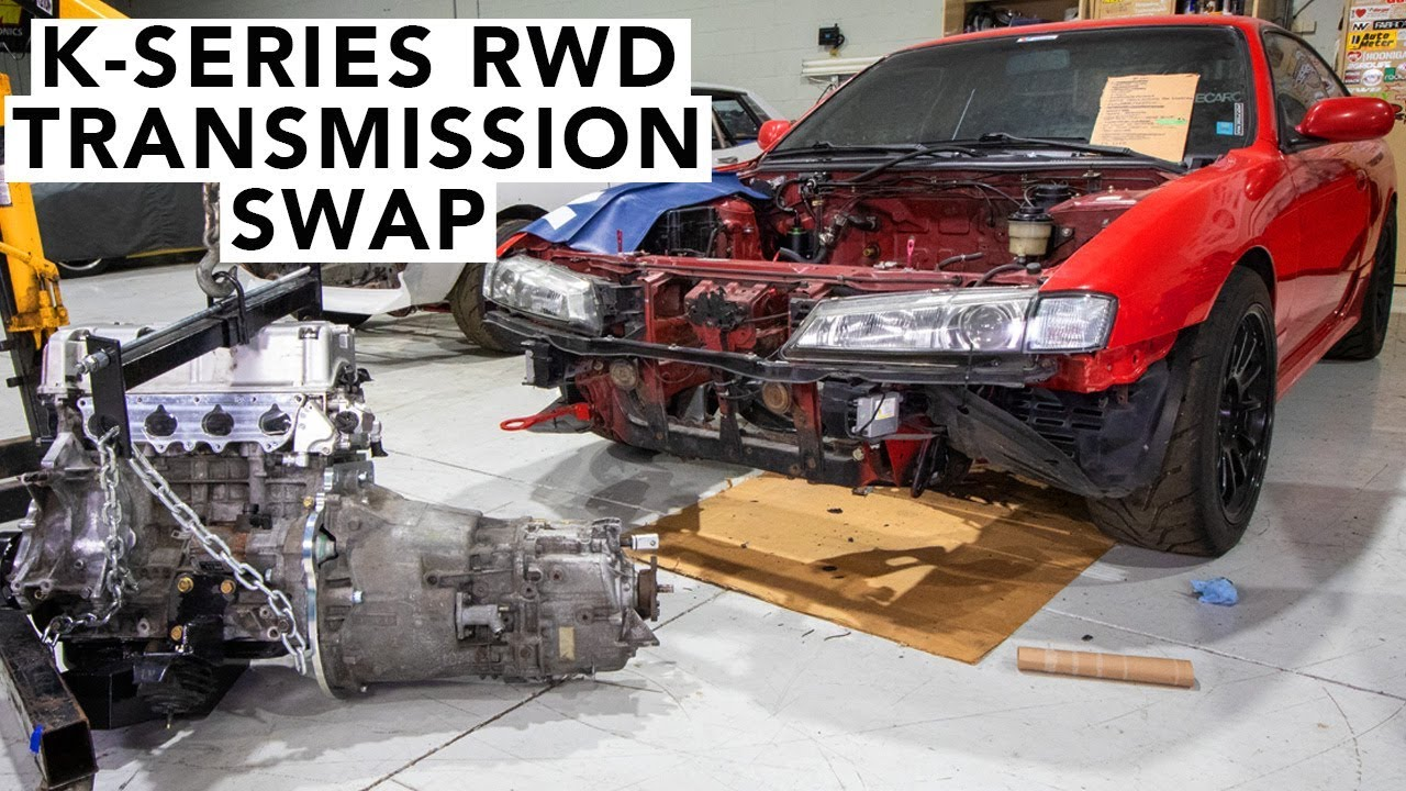 How To Install A BMW Trans On A Honda K24 K20 RWD - Honda K-Swap 240SX