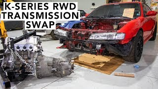 How To Install A BMW Trans On A Honda K24 K20 RWD - Honda K-Swap 240SX