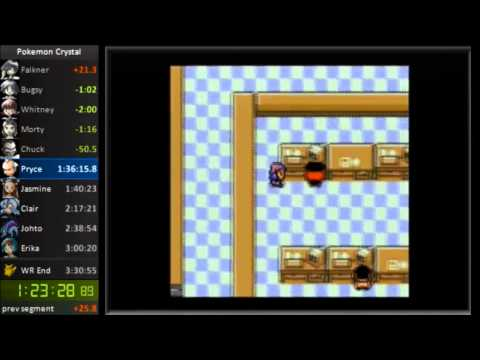 Pokemon Crystal - Any% Glitchless Speedrun in 3:22