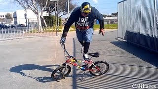 50yr old BMX rider does crazy bike tricks