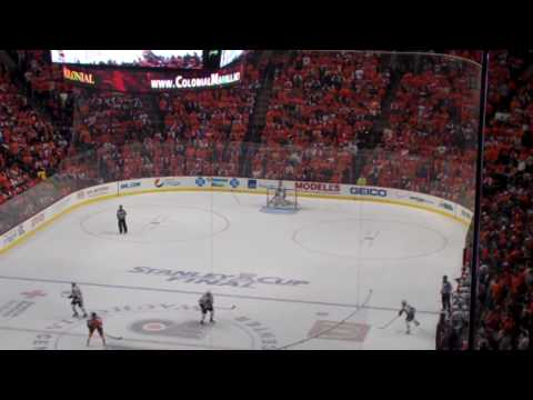 Hartnell Scores Last Flyers Goal of 2010 Stanley Cup to tie it 3-3