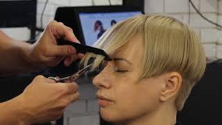 Стрижка чёлки. Влад Забора. Обучение парикмахеров с Узун Виталием.