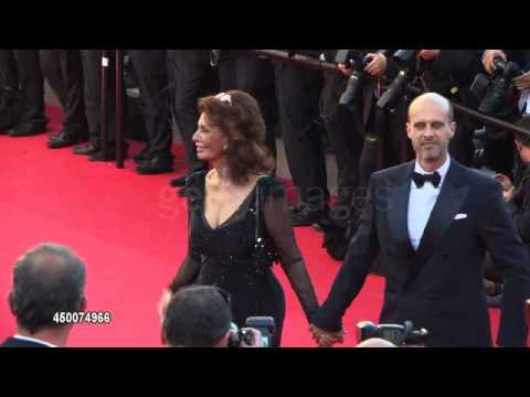 Sophia Loren & Edoardo Ponti at Closing Ceremony Cannes2014