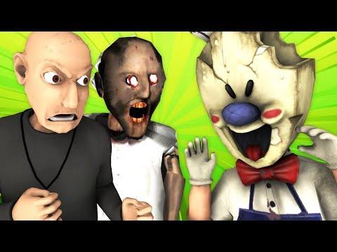 Мороженщик vs Гренни и Грендпа (Ice Scream 2 | Granny 2 | Grandpa Рождество Хоррор 3D Анимация)