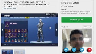 I bought a Skull Trooper Fortnite Account on FIVERR, then this happened...
