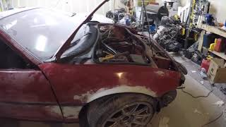 SW20 MR2- Removed front fender & rear center piece, and more body  work