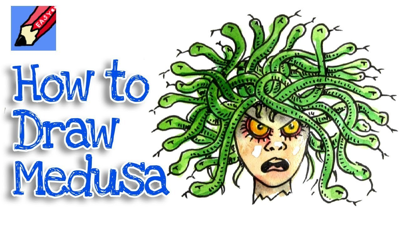 How To Draw Medusa The Gorgon Real Easy