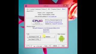 CPU-Z program (INTEL, AMD, Overclocking)