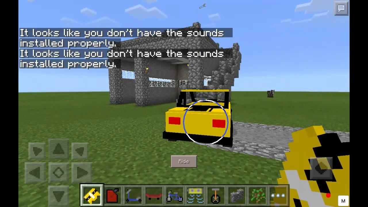 mcpe comment avoir une voiture un h licopt re un overboard dans minecraft pe mod youtube. Black Bedroom Furniture Sets. Home Design Ideas